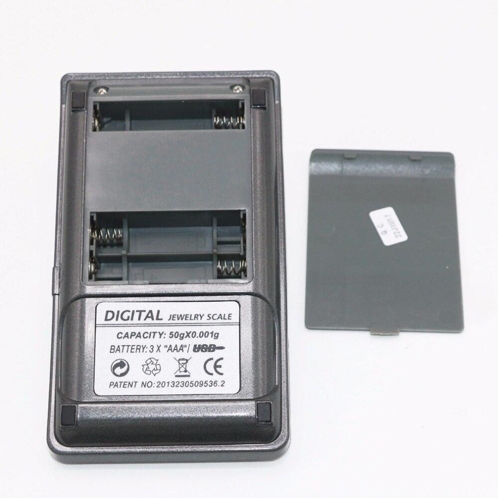 0.001g ~ 50g écran tactile haute définition bijoux échelle qualité poche électronique numérique balance + boîte de détail - 5