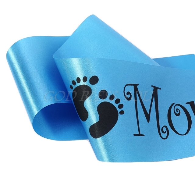 Footprint Blue Mommy To Be Sash Baby Boy Baby Shower Newborn Party  Decoration