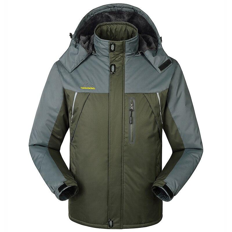 -30 C FIT Plus Thick Velvet Down & Parka Coat 6XL 7XL 8XL 9XL 2019 Warm Winter Jacket Waterproof Windproof Men's Windbreaker 4