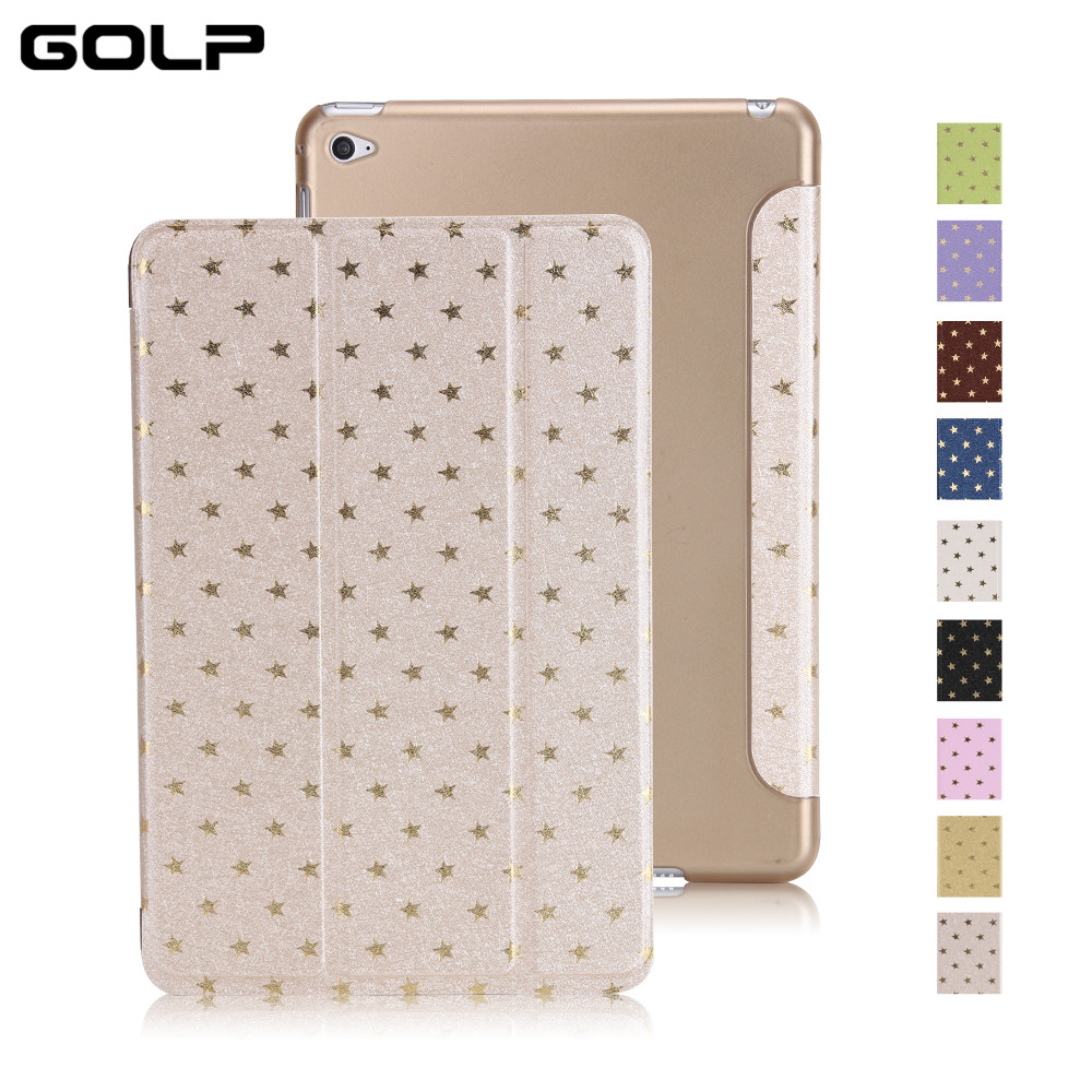 GOLP Case For Apple iPad mini 4 Star Pattern Ultra Slim Hard PC Auto Sleep Wake Smart Cover For Apple iPad mini 4 A1538 A1550 kisscase for apple ipad mini 4 cover case wake up smart sleep magnetic flip cover ultra slim pu leather covers for ipad mini 4