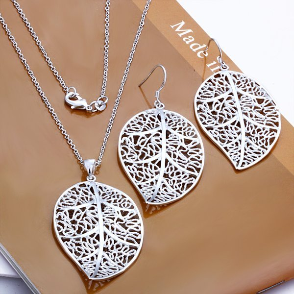 Free Shipping Wholesale 925 Sterling silver plated copper.New Arrival Necklace&Earring NE180