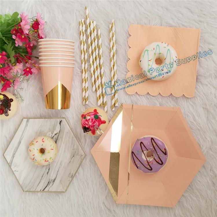 Peach Bridal Shower Decorations
