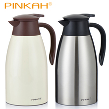 цена на 2L Stainless Steel Coffee Pot For Kitchen Insulation Drink Water Bottle Thermoses Kettle Jug Vacuum Flask Cup Home Thermal Pots