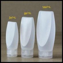 30 ml 50 ml 100 ml פלסטיק צינור ברור ריק יצירתי בקבוק קרם קרם שמפו קוסמטי מכולות בניקוי פנים למילוי חוזר