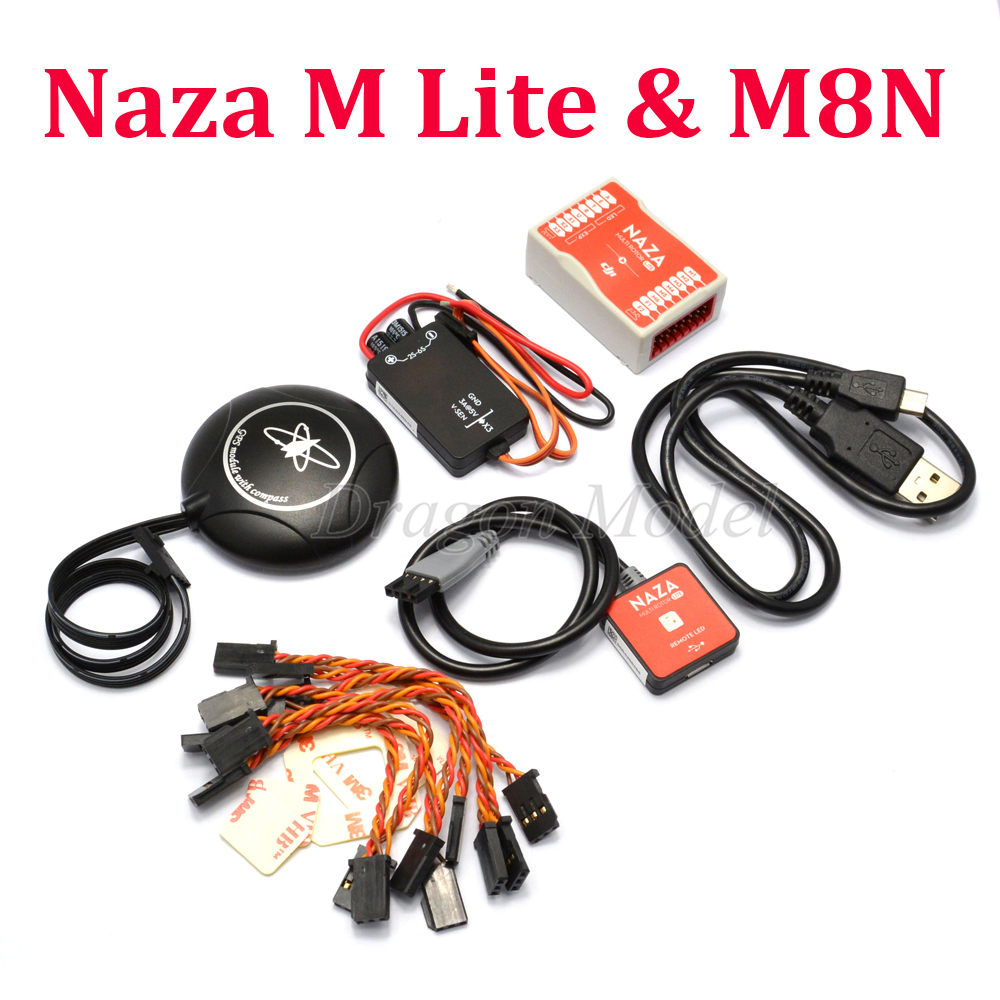 купить Naza M Lite Multi Flyer Version Flight Control Controller w/ PMU Power Module & LED &Cables Original