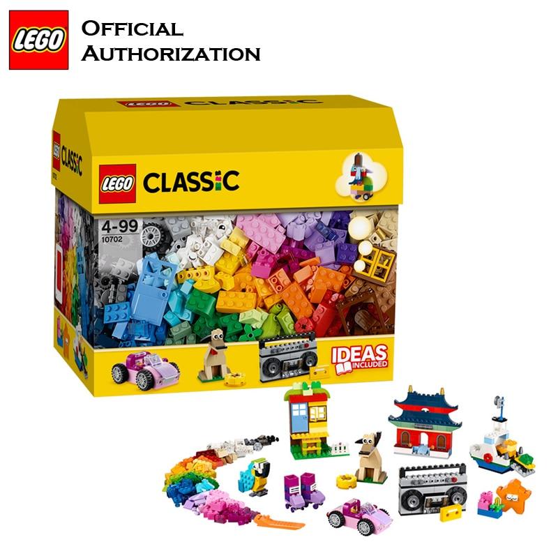 LEGO 583 pcs Klassieke Speelgoed Stapelen Blokken Doos Kinderen Speelgoed Educatief & Leren Lego Building Speelgoed Blocos De Construcao 10702