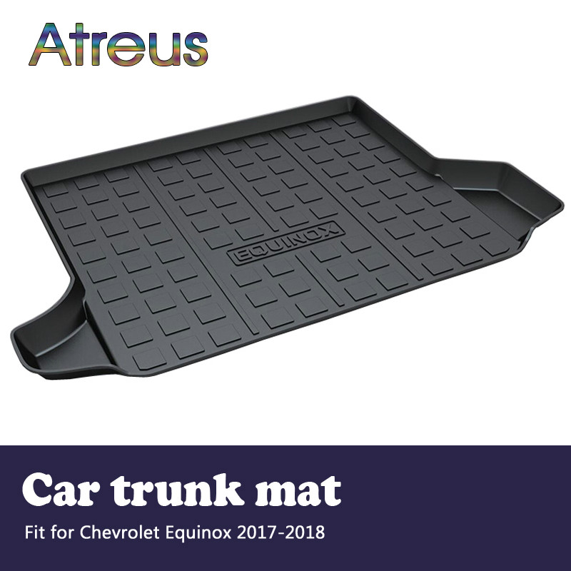 Atreus For Chevrolet Equinox 2017 2018 Accessories Car Rear Boot Liner Trunk Cargo Mat Tray Floor Carpet Pad Protector atreus for 2015 nissan murano 2016 2017 2018 accessories car rear boot liner trunk cargo mat tray floor carpet pad protector