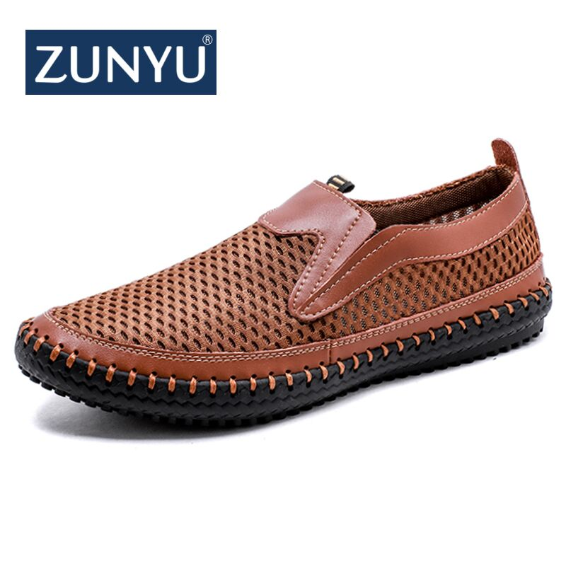 ZUNYU New Arrival Big Size 38-48 Summer Breathable Mesh Men Casual Shoes For Comfortable Handmade Men Slip-On Lazy Male Shoes zjnnk summer men mesh shoes big size male casual shoes breathable slip on chaussure homme light soft men summer shoes big size