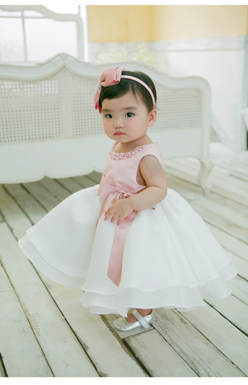 Aliexpress buy baby pink white wedding dresses for little undefined ombrellifo Image collections
