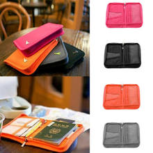 Houder Tas Purse Wallet Leather Credit Card Case Reizen Paspoort Houder Tas Purse Wallet Organizer(China)