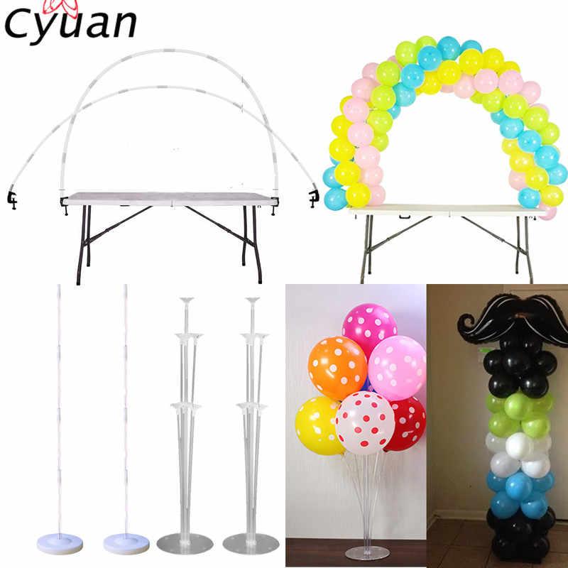 UK DIY Balloon Arch Kit Balloons Column Stand with Frame Base Pole Ballons Clips