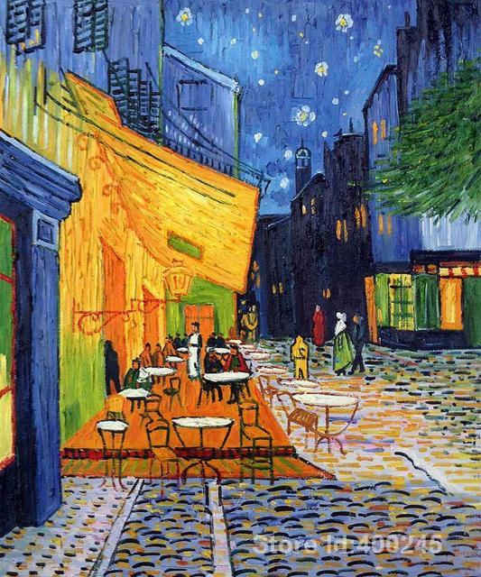 Vincent Van Gogh pinturas de Terraza del Caf en La Noche