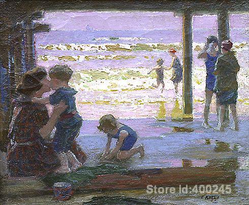 art Oil paintings Sunlight and Shadow Edward Henry Potthast artwork on canvas Handmade High quality
