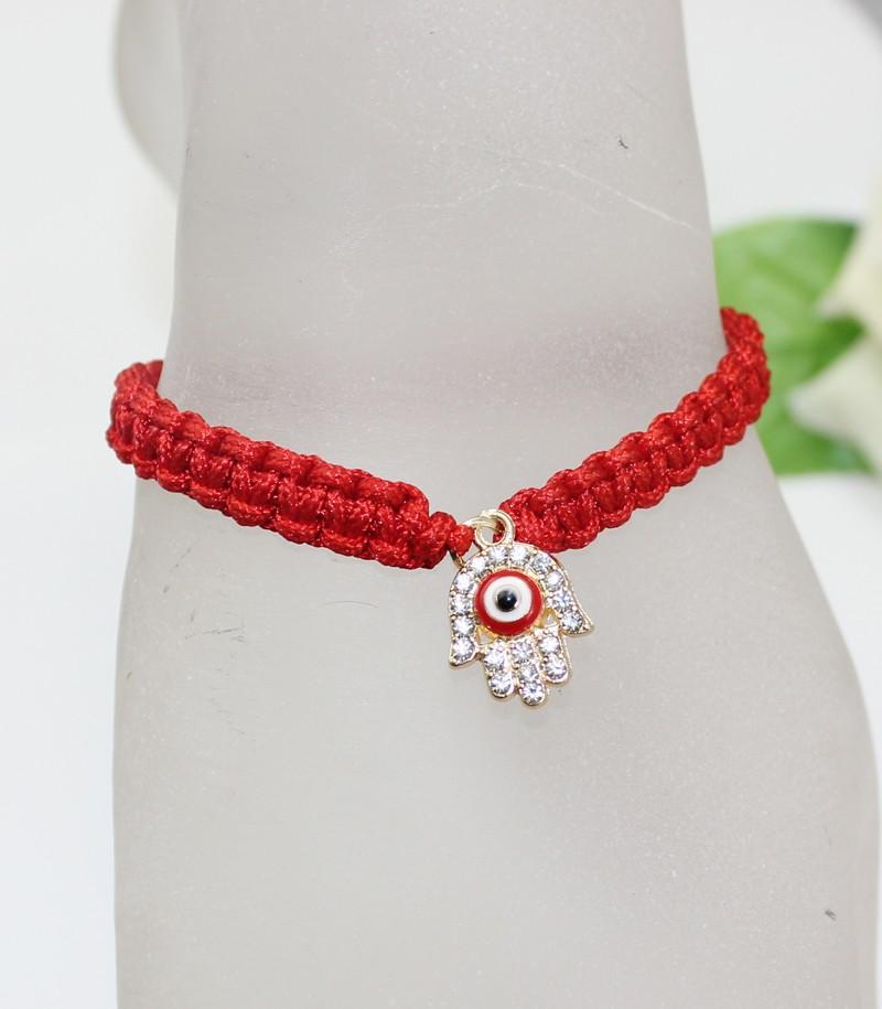 Handmade Braided Rope Bracelets Red Thread Turkish Jewelry Crystal Hamsa Hand Charm Bracelets Bring Lucky Peaceful Bracelets 21