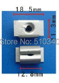 Spec red tuercas pasadores de la puerta marco de la matrícula