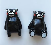 Hand Painted Cute Japanese Kumamoto Bear Mascot 3D Fridge Magnets Tourism Souvenirs Refrigerator Magnetic Sticker Home