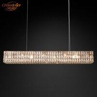 Spiridon Linear Chandelier Modern Chandelier Lighting Retro Nordic Cristal Chandelier Lamp LED Chandelier Hanging Light Fixture