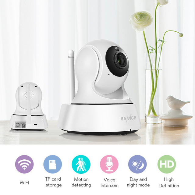 SANNCE Home Security IP Camera Wi-Fi Wireless Mini Network Camera Surveillance Wifi 720P Night Vision CCTV Camera Baby Monitor 1