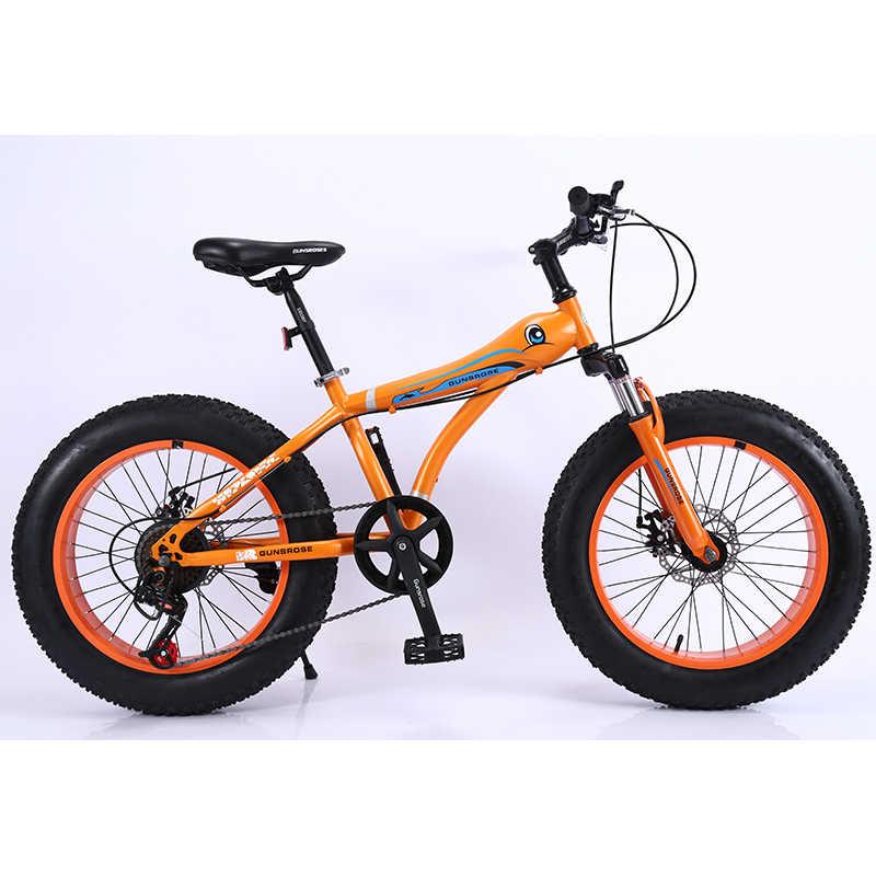 """KUBEEN складной велосипед для снега MTB 20 """"7 21 24 27 скорость двойной диск горный Fat велосипедная Подвеска стальная рама 4"""" Шины алюминиевые колеса"""