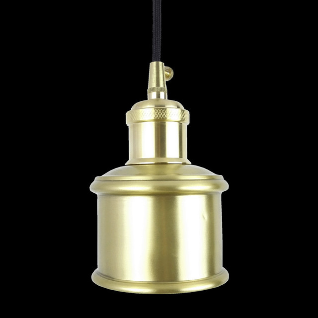 E27 brass socket with copper lampshade fabric wire pendant lamp e27 brass socket with copper lampshade fabric wire pendant lamp fixture quality brass lighting with led greentooth Image collections