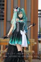 Hatsune Miku VOCALOID the Queen of the Night Womens Cosplay Gorgeous Satin Dress Costume Custom Any Size alexandra okatova the queen of the night