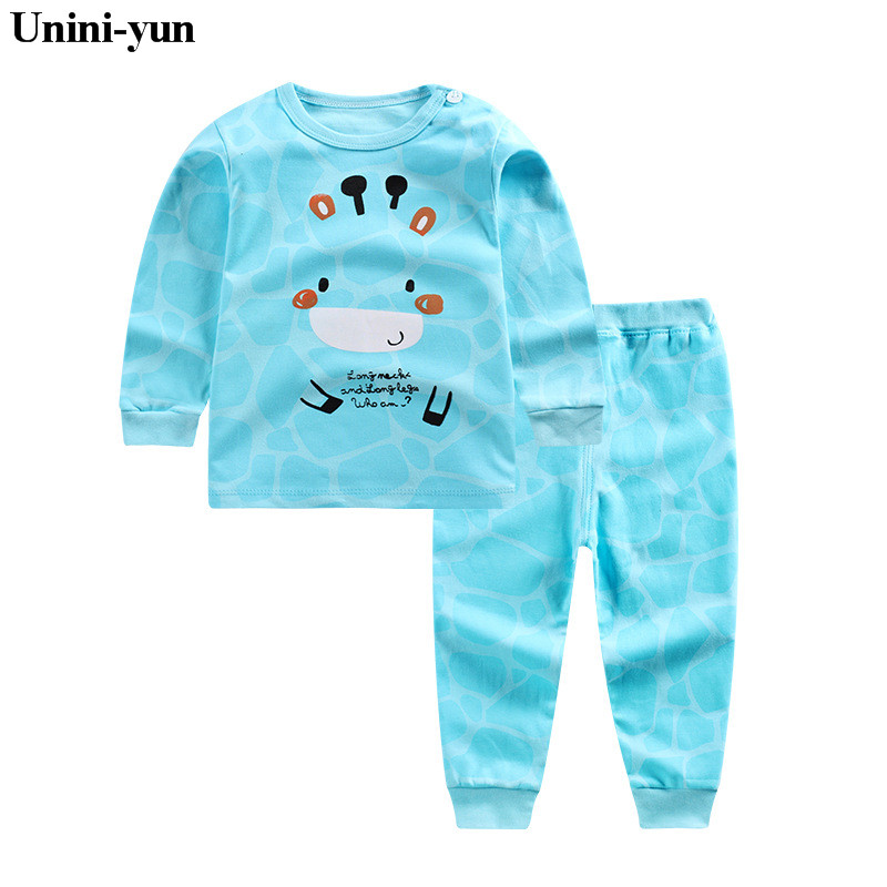 2017 Autumn Kids Clothing Sets Baby Boys Girls Cartoon green Cotton Set Winter Children Clothes Child T-Shirt+Pants Suit