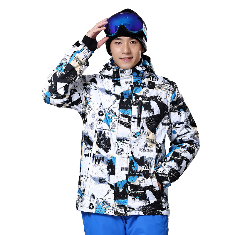 Winter Men Suit Snow Clothes Warm Padded Down Coat Hooded Waterproof Outdoor Snowboard Ski Jacket For Skiing And Snowboarding gsou snow ski suit for women skiing suit winter outdoor sports clothes snowboard set camouflage ski jacket and pants multicolor