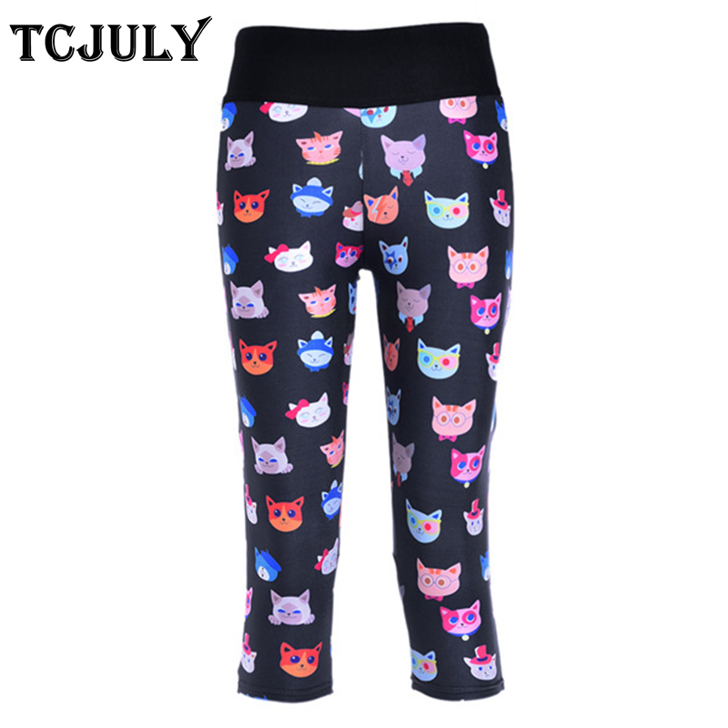 TCJULY New Design 4Xl Big Size   Capri     Pants   Women High Waist Skinny Push Up Fitness Leggings Breathable Stretchy Cropped Trousers