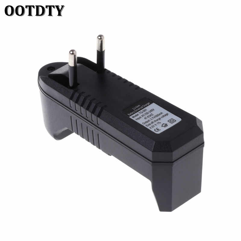 Ootdty rechargeable بطارية شاحن عالمي 3.7 فولت ليثيوم أيون الاتحاد الأوروبي التوصيل ل 18350 16340 14500