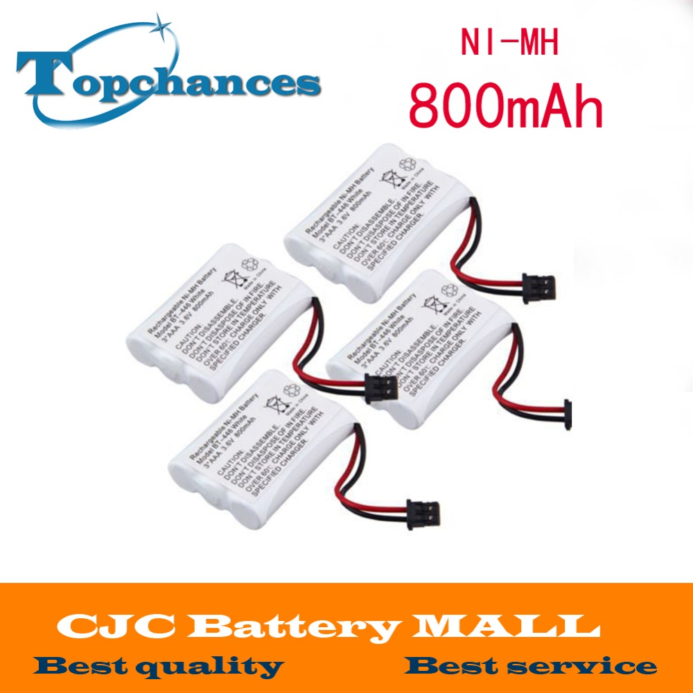 4 Pcs Home Cordless Phone Battery for Uniden BT-446 BT446 ER-P512 3.6V 800MAH NI-MH