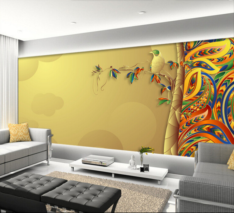 Custom photo wallpaper,Colorful abstract leaves,3D stereoscopic wallpaper for living room restaurant bedroom wall wallpaper custom baby wallpaper snow white and the seven dwarfs bedroom for the children s room mural backdrop stereoscopic 3d