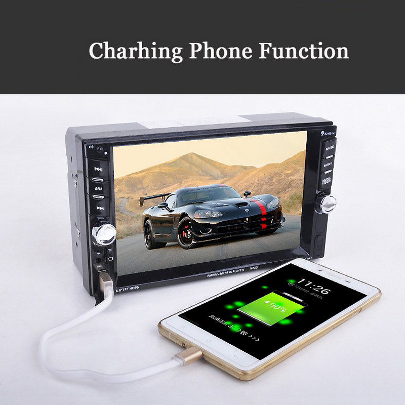 Image 4 - Car Mp5 Mp4 Player With Rear View Camera 6.6 Inch HD Digital Touch Screen Car Bluetooth Fm Transmitter Charge USB Devices-in Car MP4 & MP5 Players from Automobiles & Motorcycles