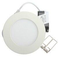 240 светодио дный шт. 6 Вт круглый светодиодный панель свет встраиваемые потолочный светильник пятно света AC85 265V драйвер включены