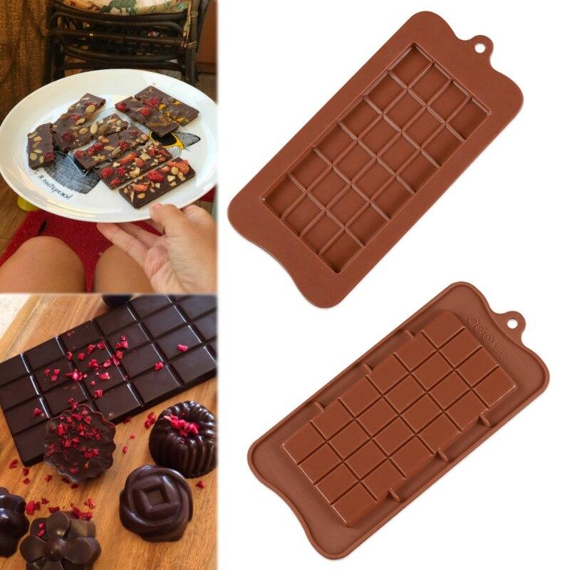Moldes de chocolate de grau alimentício, popular, 1 peça, moldes de silicone para bolo, ecológico, 24 cavidades, quadrado, de alta qualidade, diy