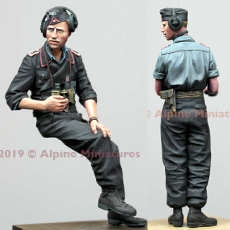 1/35 Panzer Commander, Summer Set, Resin Model Soldier GK, WWII military themes, Unassembled and unpainted kit