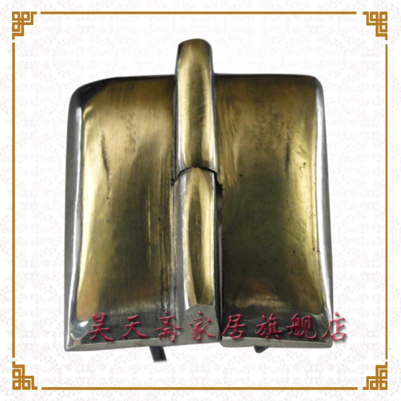 [Haotian vegetarian] copper copper hinge hinge cabinet Shanxi Chinese antique painting box hinge HTF-086 [haotian vegetarian] antique chinese brass coat detachable door hinge hinge small 9cm