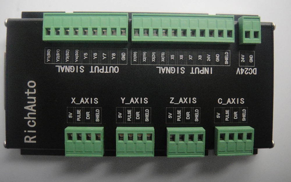 RICHAUTO DSP controller A11 complete set English letters panel for 3 axis cnc machine - 4