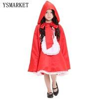 Yeni yüksek kalite Kırmızı Başlıklı kız cosplay kostüm prenses cadılar bayramı fantezi elbise giyim Çocuklar kız için bütün set E71014