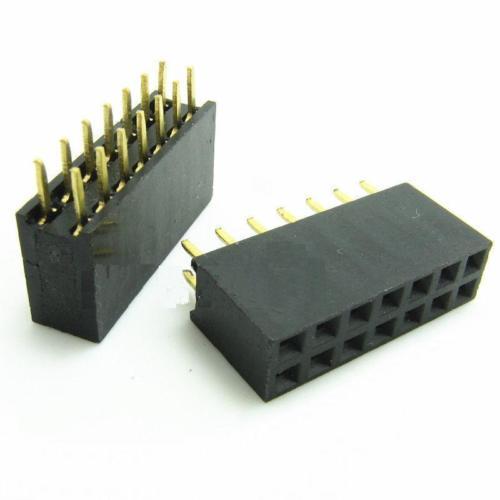 10PCS 2x7 14Pin 2.54mm Double Row Female Straight Header Pitch Socket Pin Strip