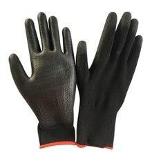 Black Safety Work Gloves Cleaning oil-resistant anti-wear anti-cut Nylon PU Garden Builders Grip