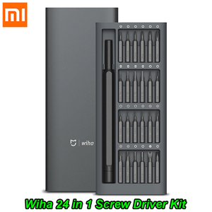 Image 1 - Xiaomi Mijia Wiha Daily Use Screw Kit 24 Precision Magnetic Bits Alluminum Box Screw Driver Tool xiaomi smart home Kit