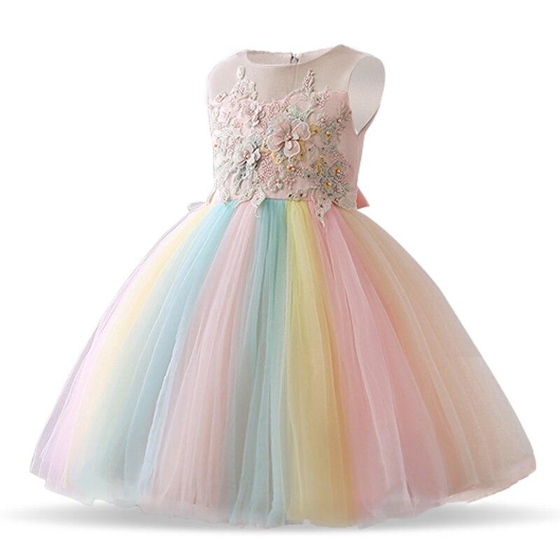 124e058a7 Unicornio fiesta chica tutú princesa vestido para chica elegante flor  cumpleaños fiesta niños ...