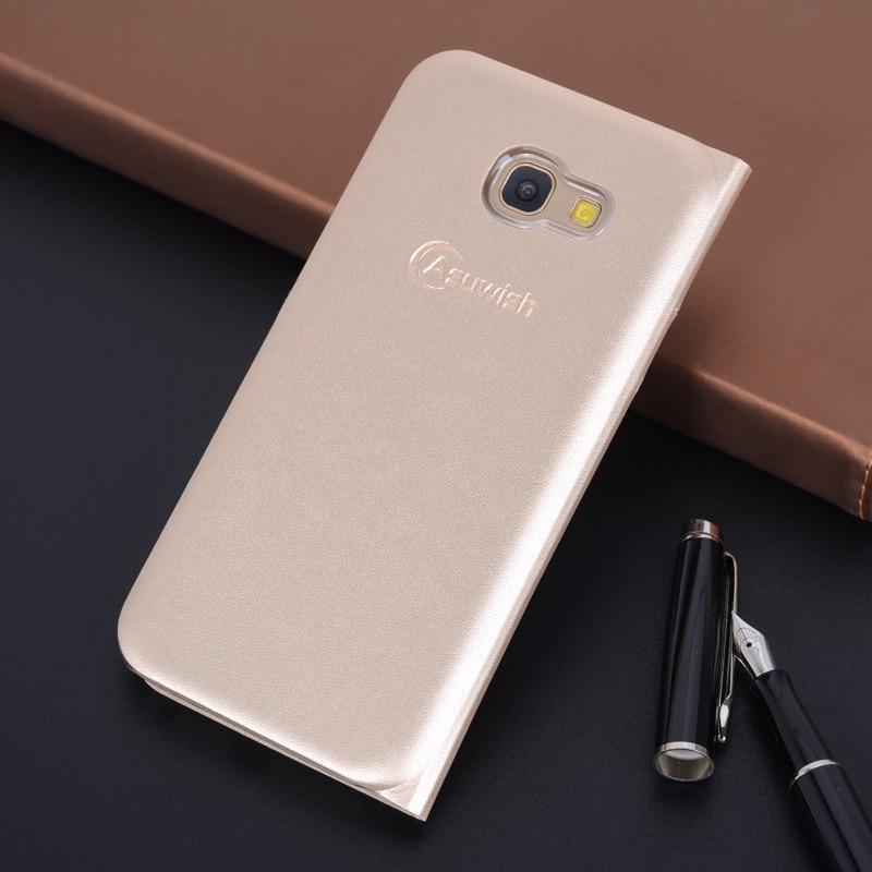 360 Flip Cover Kulit Telepon Kasus Untuk Samsung Galaxy A3 A5 A7 2017 - Aksesori dan suku cadang ponsel - Foto 3