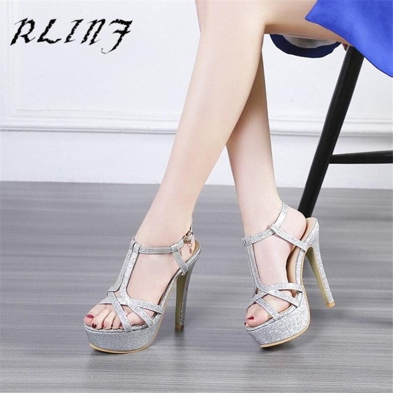 Con rosso Heel argento Alta Sexy Oro High Rlinf Super colore Scarpe 12 Rosa Cm gdg1q