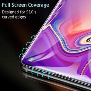 Image 5 - 10 adet/grup tam kapak temperli cam Samsung galaxy S10 artı S10E S9 S8 not 8 9 10 ekran koruyucu parmak izi kilidini film