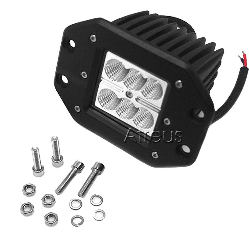 Atreus 18 W Mobil LED Kerja Cahaya Bar 12 V Spot DRL untuk ATV Truk - Lampu mobil - Foto 5