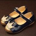 2017 Новый Стиль Дети Девушки Принцесса Shoes with Crown Лодыжки Ремень Платье Малышей Shoes Партии Малышей Ballet Shoes Ballerinas