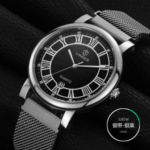 2016 Mens Business Watches Top Brand Luxury Waterproof calendar Watch Roman numerals Man Steel Sport Quartz Watch Men Clock Male