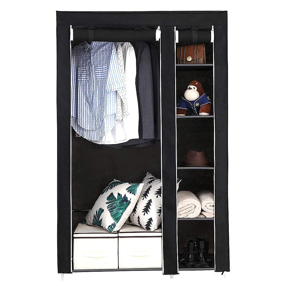 Large Capacity Multi-function Cloth Wardrobe Folding Clothing Storage Cabinet DIY Assembly Reinforcement Wardrobe Closet HWC