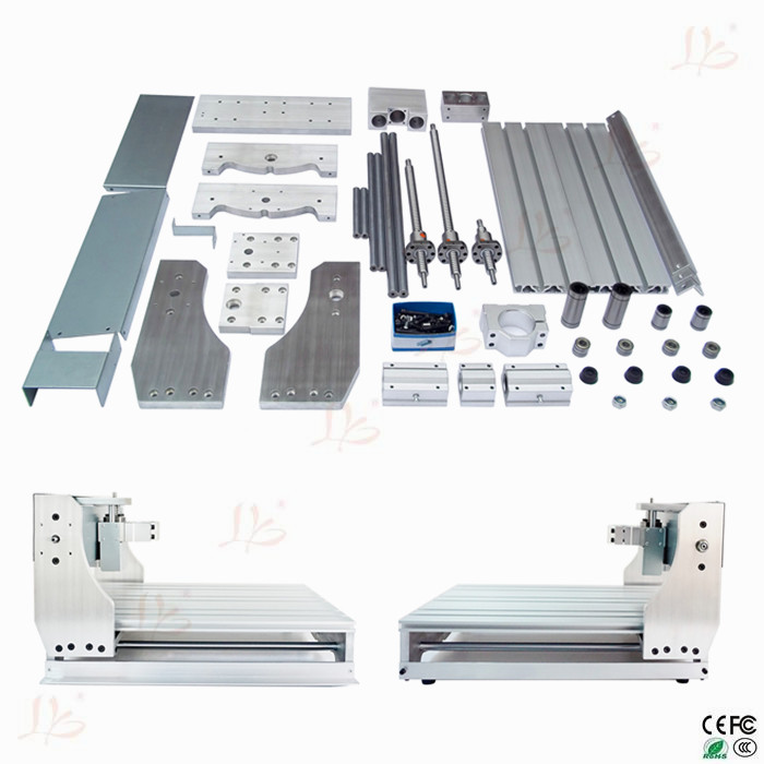 Free Tax to Russia!! LY 3040Z Aluminum CNC Machining Frame for Ball Screw CNC Engraving Machine free tax to eu high quality cnc router frame 3020t with trapezoidal screw for cnc engraver machine